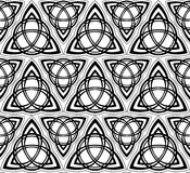 Black and white vector celtic triskels seamless Stock Photography