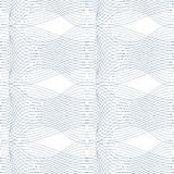 Black and white vector endless pattern created with thin undulat Stock Photo