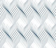 Black and white vector endless pattern created with thin undulat Stock Images
