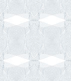 Black and white vector endless pattern created with thin undulat. E stripes, seamless netting composition. Continuous interlace texture can be used as website Stock Photos