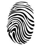 Black and White Vector Fingerprint. Concept Stock Photos