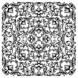 Black and white vector floral background Royalty Free Stock Photos