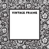 Black and white vector frame baroque. Royalty Free Stock Photos