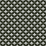 Black & white vector french fleur de lis pattern Stock Photo