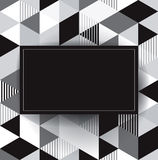 Black and white vector geometric background. Stock Photos