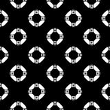 Black and white vector geometric seamless pattern, monochrome r Stock Photography