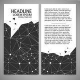 Black and white vector illustration of polygonal Stock Image