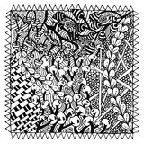 Black and white. Vector illustration zentangle. black and white anti stress for adults Stock Photography