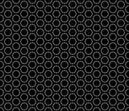 Circle black and white seamless pattern design Stock Photo