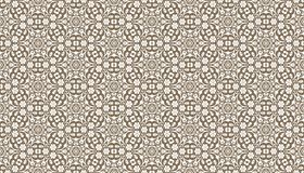 Decorative dots and floral geometric repeated pattern design Royalty Free Stock Photo