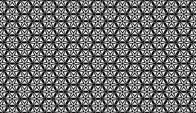 Geometrical flower black and white seamless pattern design Royalty Free Stock Photography