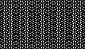 Geometrical black flower seamless pattern design Royalty Free Stock Photography