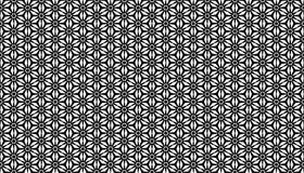 Geometrical flower seamless pattern design Royalty Free Stock Image