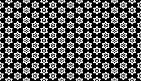 Geometrical line and star seamless pattern design Stock Photos