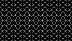 Geometrical black and white seamless pattern design Stock Images
