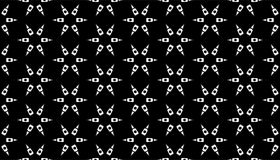 Geometry black and white abstract seamless pattern Royalty Free Stock Photo
