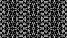Geometry hexagon, black and white abstract seamless pattern Stock Images