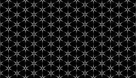 Geometry hexagon, black and white abstract seamless pattern Stock Photos