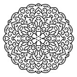 Black and white vector mandala. Ethnic Oriental circular pattern stock illustration