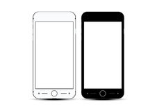 Black White Vector mockups realistic phone set Royalty Free Stock Images