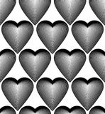 Black and white vector ornamental pattern, seamless art backgrou Royalty Free Stock Image
