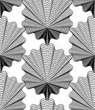 Black and white vector ornamental pattern, seamless art backgrou Stock Photo