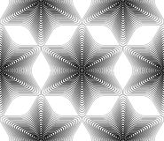 Black and white vector ornamental pattern, seamless art backgrou Stock Photography
