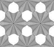 Black and white vector ornamental pattern, seamless art backgrou Royalty Free Stock Photo