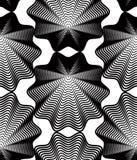 Black and white vector ornamental pattern, seamless art backgrou Stock Photos