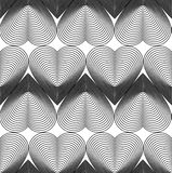 Black and white vector ornamental pattern, seamless art backgrou Royalty Free Stock Photos