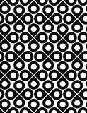 Black and white vector ornamental seamless pattern Stock Images