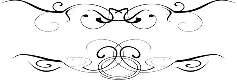 Black and white vector ornate Stock Photos