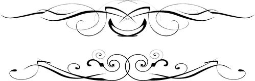 Black and white vector ornate Stock Images