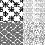 Black & white vector patterns Stock Photography