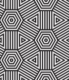 Black and White Vector Seamless Pattern Background. Stock Photo