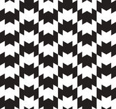 Black and White Vector Seamless Pattern. Royalty Free Stock Images
