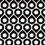 Black and white vector seamless pattern with droplets Stock Photography