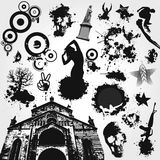 Black and White Vector Set Stock Photo