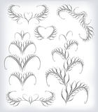 Black and white vector seta lot of patterns Stock Images