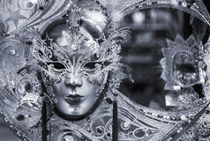 Black and white venetian mask royalty free stock photography