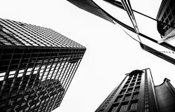 Black and white version of the tall building in Hongkong. China;house Stock Photos