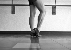 Black and White Version of Tap Barre Work stock photos