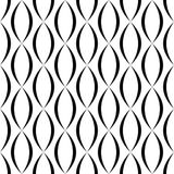 Black and white vertical curved shape pattern Royalty Free Stock Photography