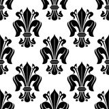 Black and white victorian floral pattern Royalty Free Stock Images