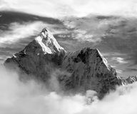 Black and white view of Ama Dablam Stock Images