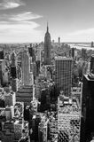 Black and white view of Manhattan, New York Royalty Free Stock Photo