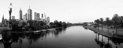 Black and white view of melbourne Royalty Free Stock Photo