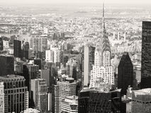 Black and white view of midtown Manhattan in New York Stock Photos