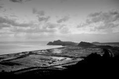 Black and white View mountain peak filled with natural. Beauty royalty free stock images