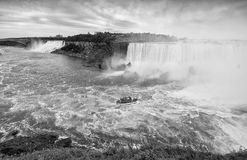Black and white view of Niagara Falls scenario Royalty Free Stock Photography